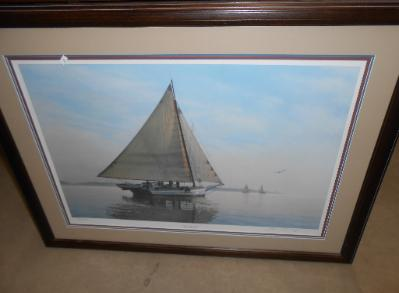 Turbaugh signed litho The Elsworth Morning Calm
