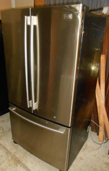 LG Stainless steel refrigerator with drawer freezer
